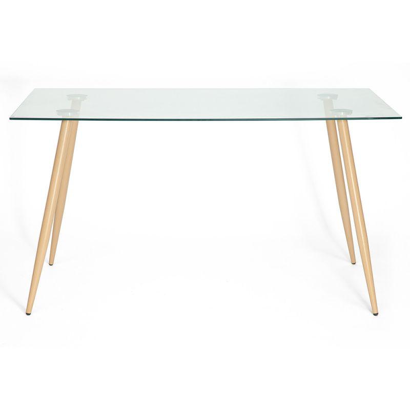 Стол для кухни обеденный со стеклянной столешницей «Sophia» (mod. 7003) (Прозрачный)