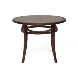 Стол обеденный деревянный со стеклом «Thonet 100» (Тонет 100) Темный орех