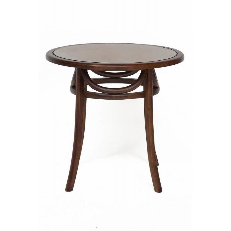 Стол обеденный деревянный со стеклом «Thonet 80» (Тонет 80) Темный орех