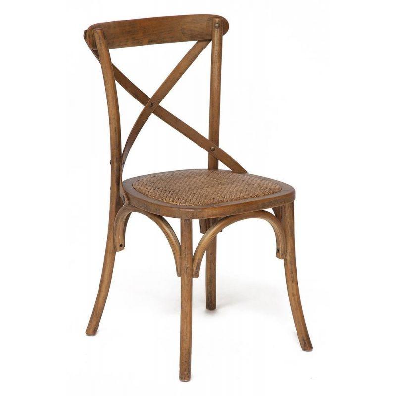 Стул обеденный деревянный Secret De Maison «Cross Chair» Груша