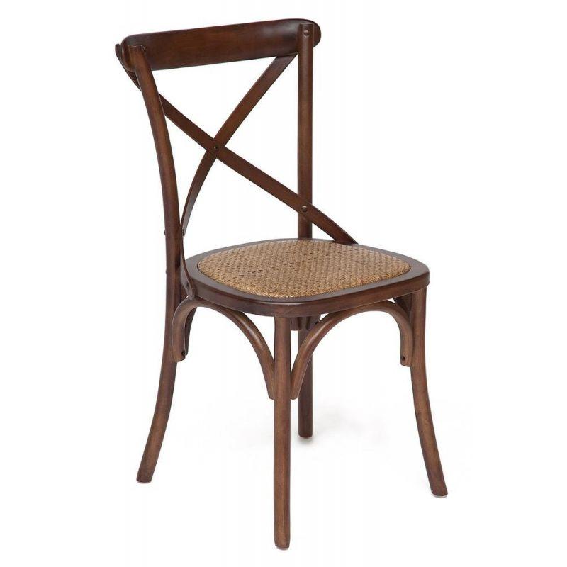 Стул обеденный деревянный Secret De Maison «Cross Chair» Тёмный орех