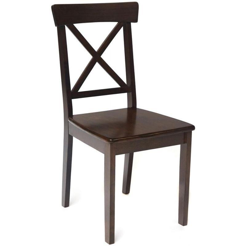 Стул деревянный с твёрдым сиденьем «Гольфи Джуниор» (Golfi Junior) Темный орех