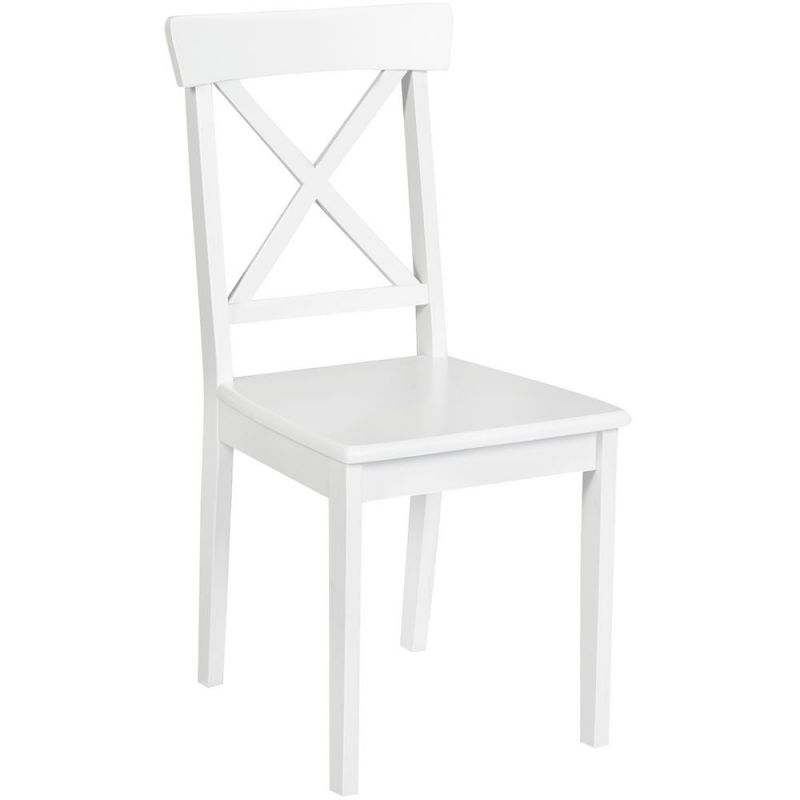 Стул деревянный с твёрдым сиденьем «Гольфи Джуниор» (Golfi Junior) Белый