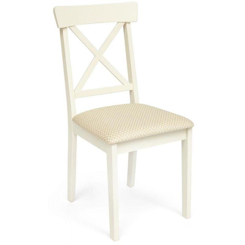 Стул деревянный с мягким сиденьем «Гольфи Джуниор» (Golfi Junior) Молочный