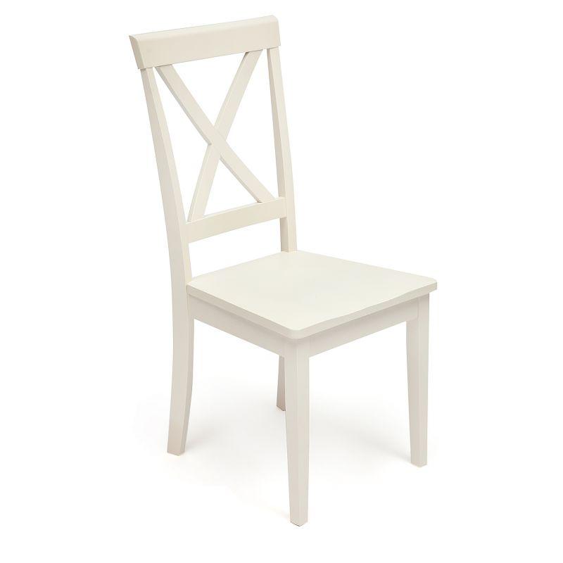 Стул деревянный с твёрдым сиденьем «Гольфи» (Golfi) Белый (Молочный)