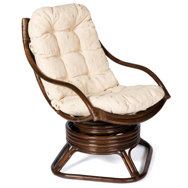 Кресло-качалка ротанговое «Кози» (Cozy) (Орех)
