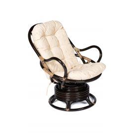 Кресло-качалка из ротанга «Флорес» (Flores 5005) + Подушка (Антик Браун)