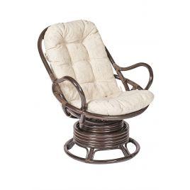 Кресло-качалка из ротанга «Флорес» (Flores 5005) + Подушка (Орех)