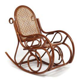 Кресло-качалка из натурального ротанга без подушки «Гавайи» Орех