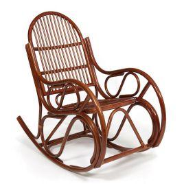 Кресло-качалка из натурального ротанга без подушки «Гавана» Орех