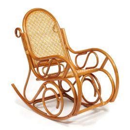Кресло-качалка из натурального ротанга без подушки «Гавайи» Коньяк