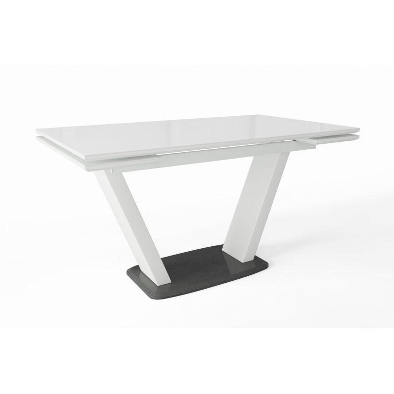 Стол обеденный керамический раскладной Кларк Белый