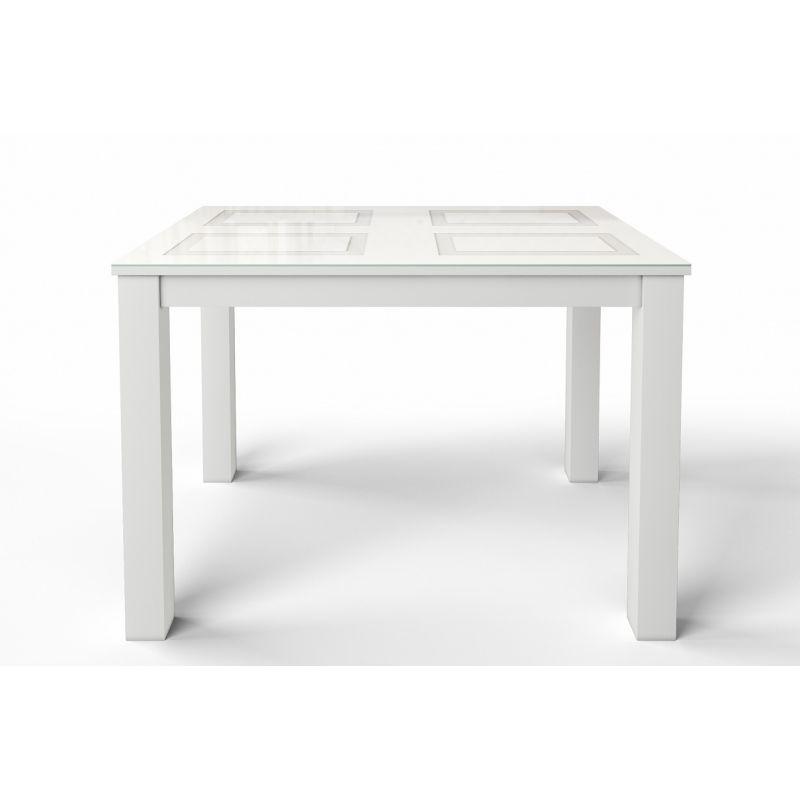 Стол обеденный стеклянный раскладной Ривьера1 Белый