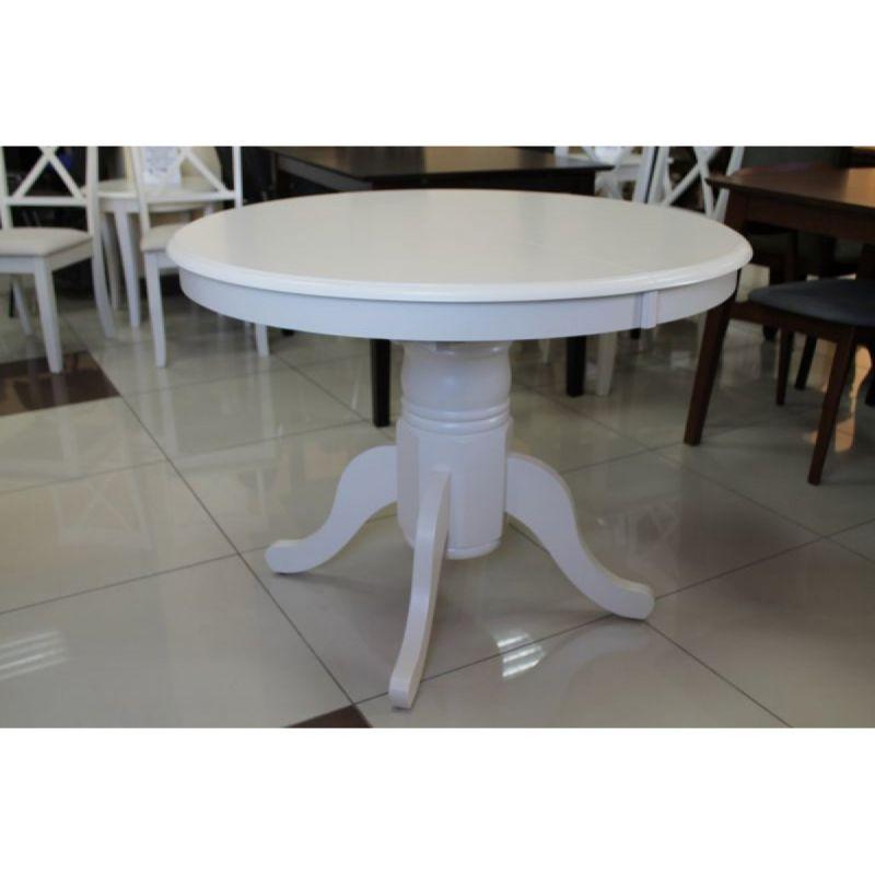 Стол деревянный обеденный круглый раскладной Mesa Крем