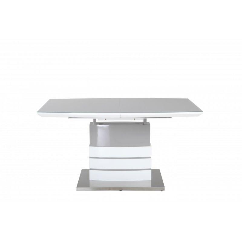 Стол обеденный стеклянный раскладной OKT-211-2 Бело-Серый