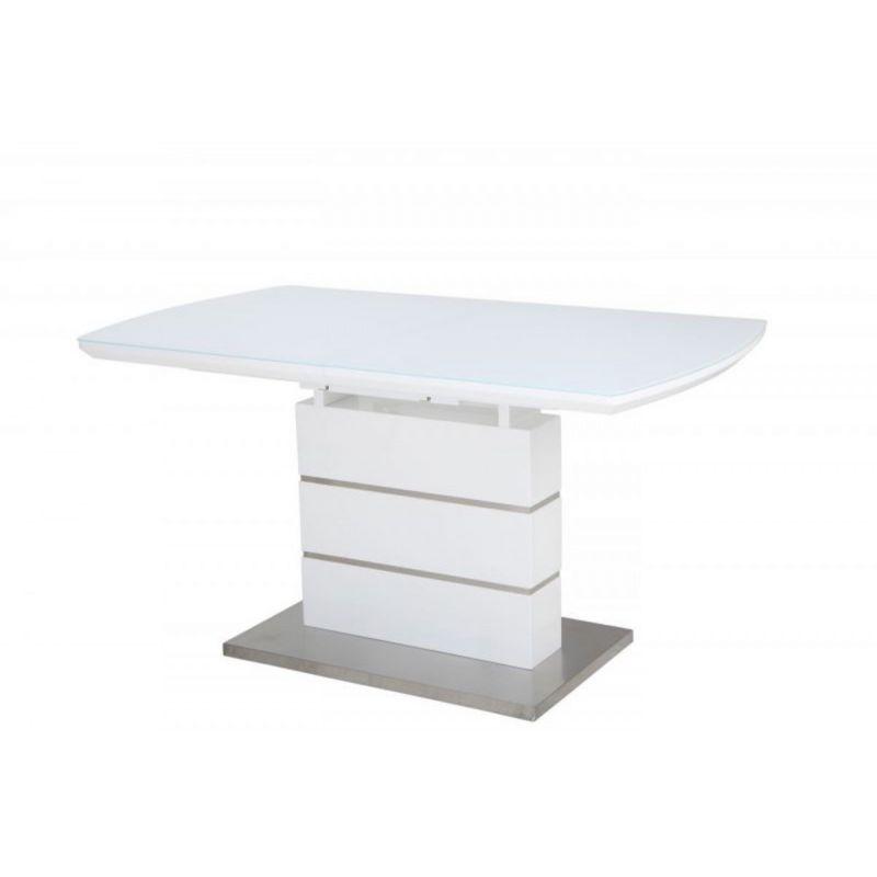 Стол обеденный стеклянный раскладной OKT-2113 Белый