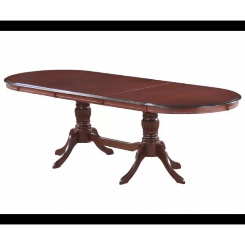 Стол обеденный деревянный овальный раскладной Olivia OL-T10EX Темный орех