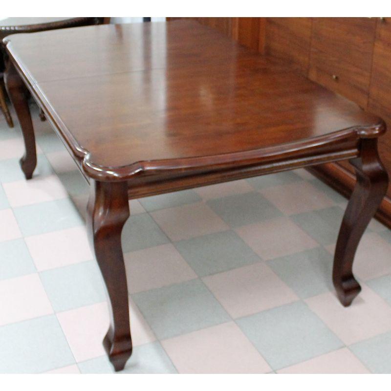 Стол обеденный деревянный прямоугольный раскладной AC3331T Вишня