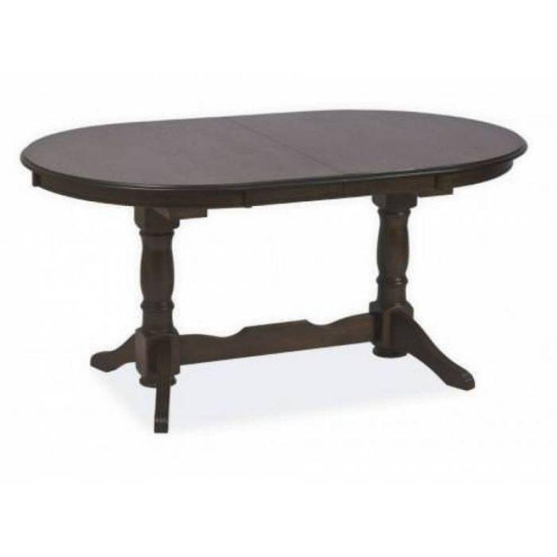 Стол обеденный деревянный раскладной Europa EA-T10EX3L Темный орех