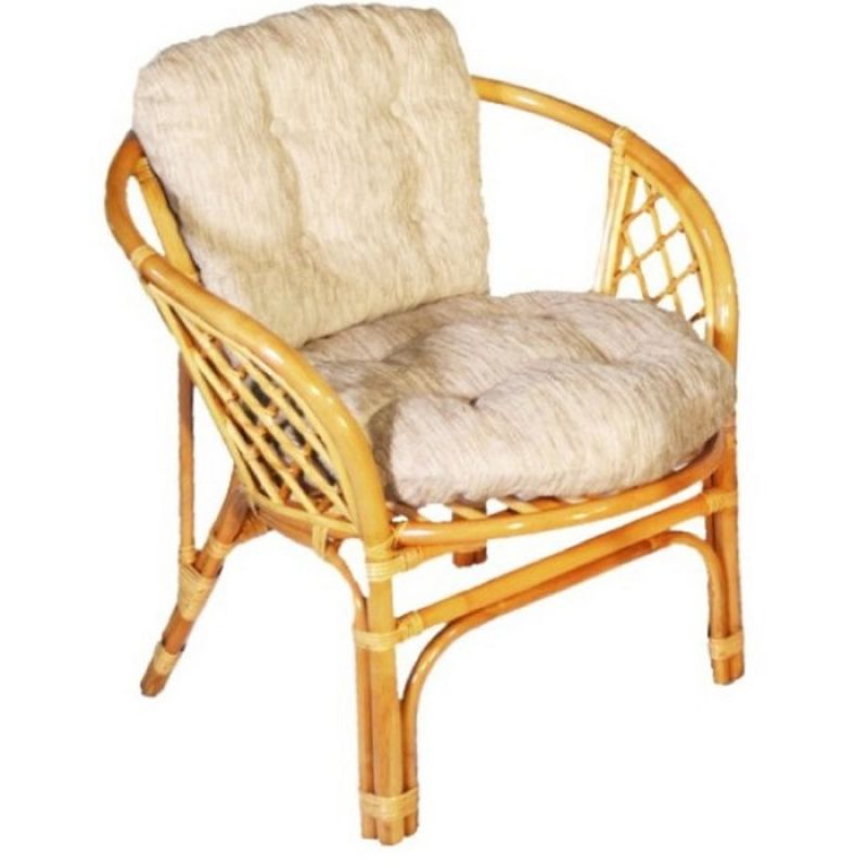 Кресло из ротанга Багама Коньяк