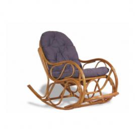Кресло-качалка плетёное с подушкой « Бали » Коньяк