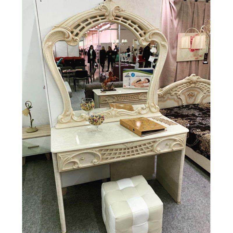 Стол туалетный + зеркало Роза беж