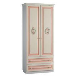 """Шкаф распашной 2-створчатый для одежды """"Алиса"""" Белый / Крем для детской"""