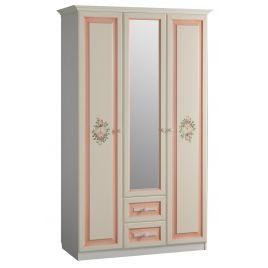"""Шкаф распашной 3-створчатый для одежды """"Алиса"""" Белый / Крем для детской"""