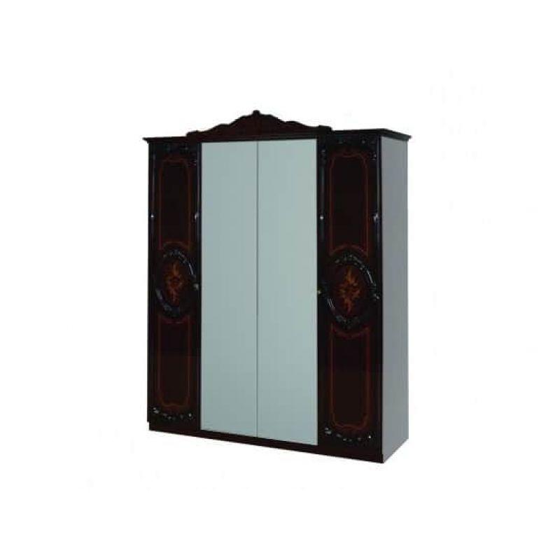 Шкаф распашной 4-х дверный для спальни и гостиной Роза махонь