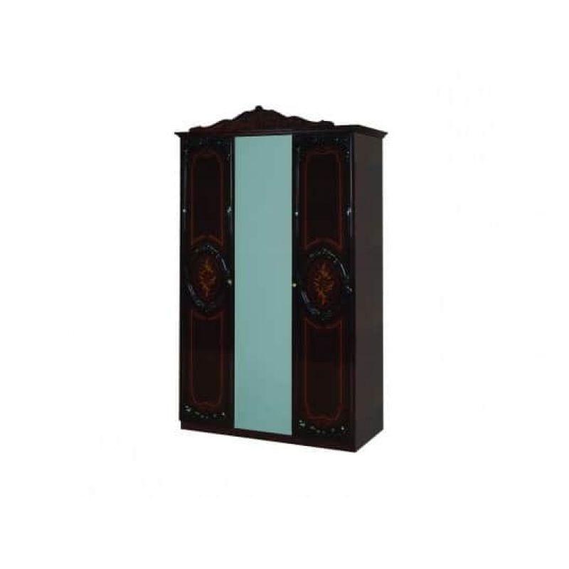 Шкаф 3-х дверный распашной для спальни Роза махонь