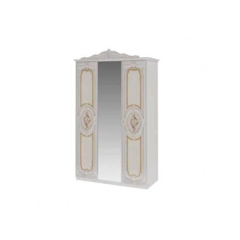 Шкаф 3-х дверный распашной для спальни Роза беж