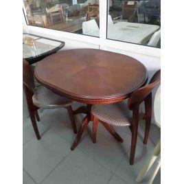Стол деревянный обеденный овальный раздвижной Анжелика-1 Итальянский орех