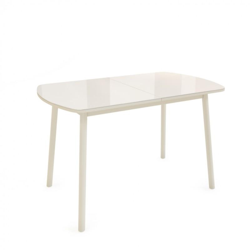 Стол кухонный обеденный стеклянный ВИНЕР G Кремовый