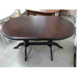 Стол деревянный обеденный овальный раздвижной Анжелика-2 Темный орех