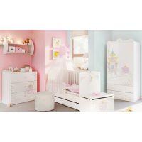 Детская модульная мебель белого цвета