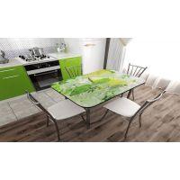 Стеклянные кухонные столы с фотопечатью – разнообразие дизайнерских решений
