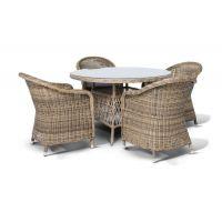 Круглые столы из ротанга - особенности ухода