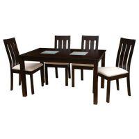 Стол и стулья в стиле венге