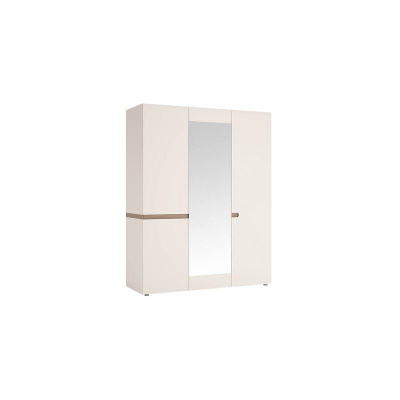 Шкаф трехстворчатый для одежды с зеркалом Линате 3D/TYP 22A