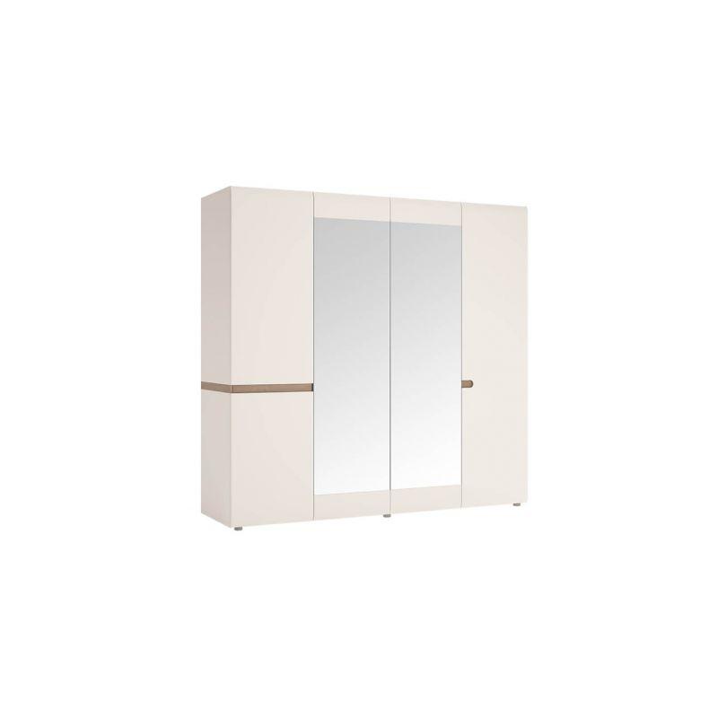 Шкаф четырехстворчатый для одежды с зеркалом Линате 4D/TYP 23A