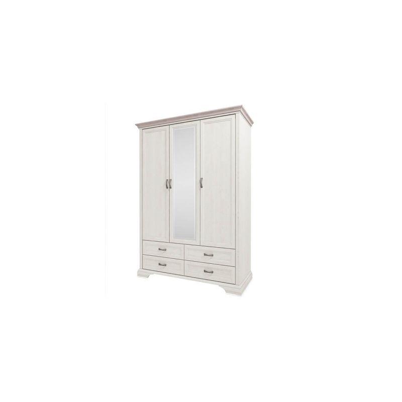 Трехстворчатый шкаф для одежды с зеркалом Монако 3D4SZ