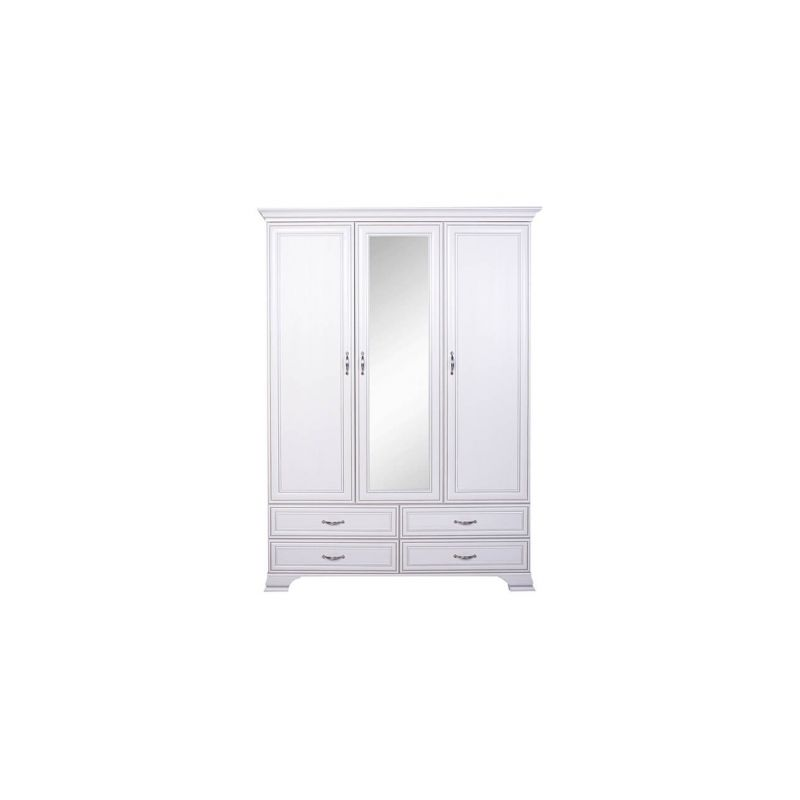 Шкаф распашной для спальни и гостиной Тиффани 3D4SZ Вудлайн кремовый