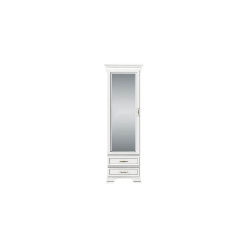 Шкаф с зеркалом для спальни и гостиной Тиффани 1Z2S крем вудлайн