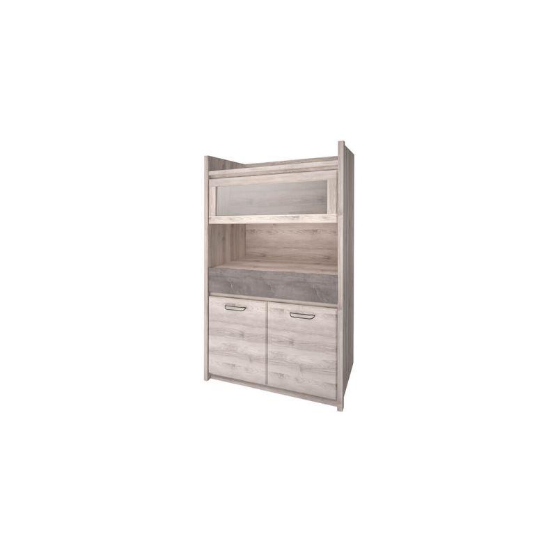 Шкаф с витриной Джаз 1V2D1S оникс