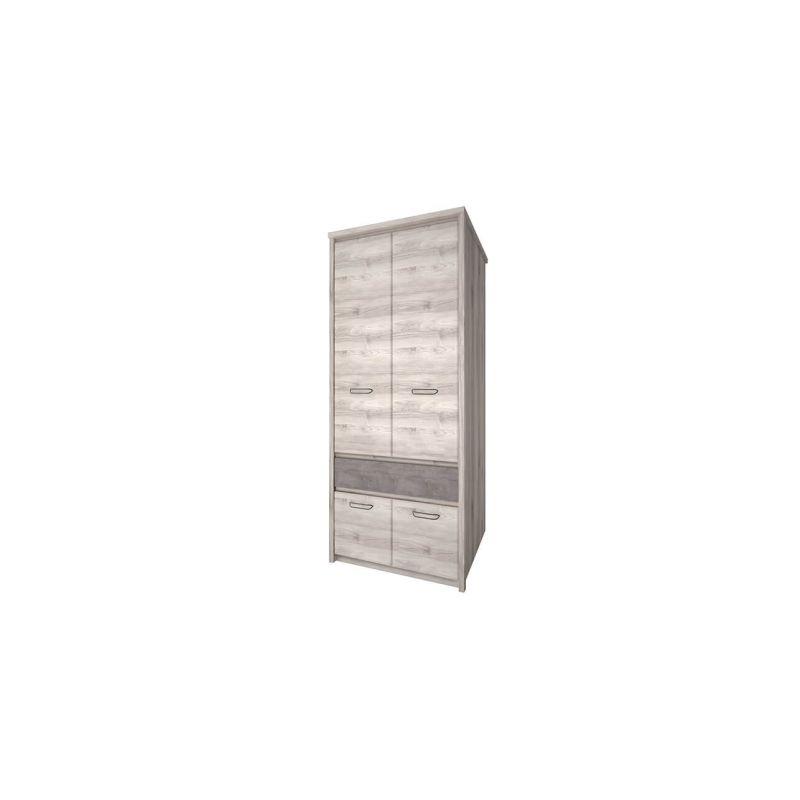 Двухстворчатый шкаф для одежды Джаз 4DG1S