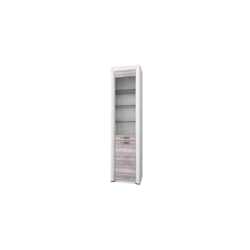 Шкаф-витрина для посуды Оливия 1V1D