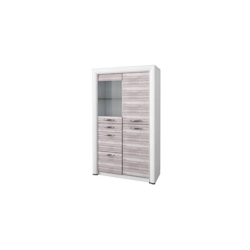Шкаф-витрина для посуды Оливия 1V2D3S