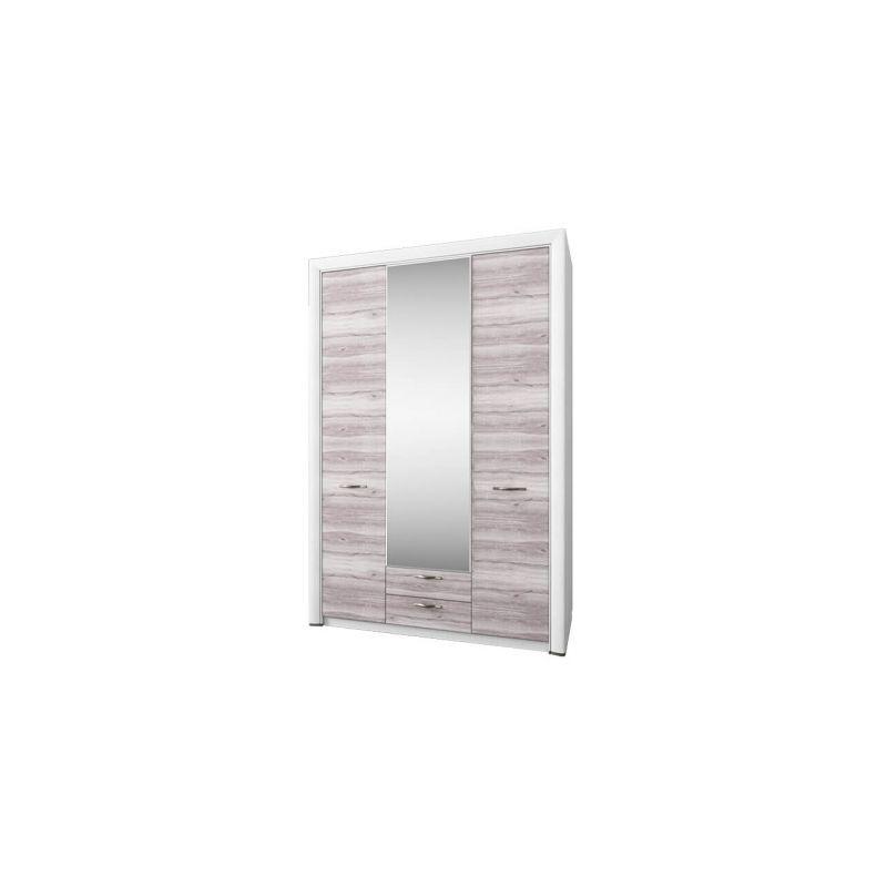 Шкаф трехстворчатый распашной для одежды с зеркалом Оливия 3D2S Z