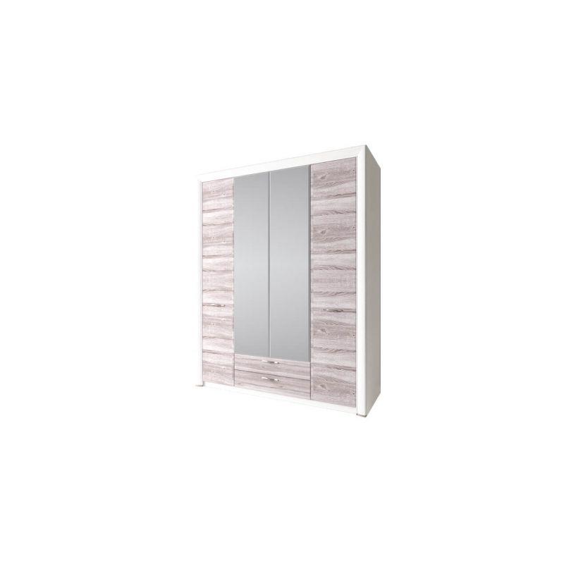 Шкаф четырехстворчатый распашной для одежды с зеркалом Оливия 4D2S Z