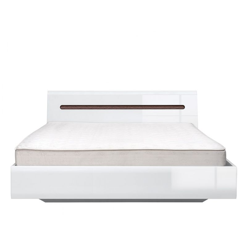 Кровать с мет. основанием AZTECA (Ацтека) LOZ180x200 Белый глянец